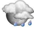 Prévisions :  Increasing clouds with little temperature change. Precipitation possible within 24 to 48 hours